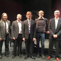 JJC Faculty Jazz Quintet, 10/18/15: Dave Nuccio, Adam Cowger, Rich Moore, John Lauler, Steve Jacobson